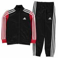 Adidas Tiberio Tracksuit Junior Boys Black/Red/White Детски спортни екипи