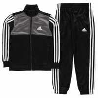 Adidas Tiberio Closed Hem Tracksuit Junior Boys Black/Grey/Wht Детски спортни екипи