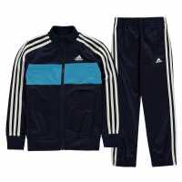 Adidas Tiberio Tracksuit Junior Boys Navy/Blue/Wht Детски спортни екипи
