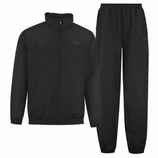 Slazenger Woven Suit Junior Black Детски спортни екипи