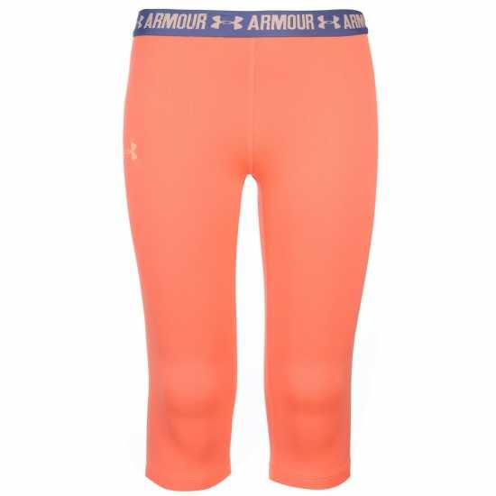 b0ed4fd7e25 Under Armour Heatgear Solid Capris Girls Orange Детски дрехи за бягане