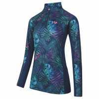 Дамско Горнище С Цип Aubrion Newberry Long Sleeve Zip Top Ladies Tropical Дамски долни дрехи