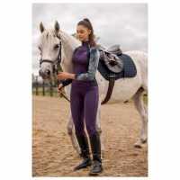 Horseware Дамско Горнище С Цип Aveen Long Sleeve Zip Top Ladies Green/Navy Дамски долни дрехи