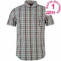 Helly Hansen Мъжка Риза Къс Ръкав Lymington Short Sleeve Shirt Mens Charcoal Мъжки ризи