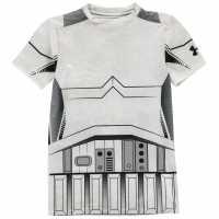 Under Armour Детска Тениска Къс Ръкав 1276067 Short Sleeve T Shirt Junior Boys White Детски тениски и фланелки