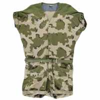 G Star Raw Lorin Camouflage Short Playsuit Khaki Дамски дънки