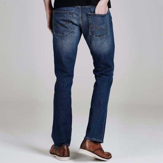 Jack And Jones Стандартни Мъжки Дънки Jean Intelligence Clark Regular Mens Jeans Dark Wash Мъжки дънки