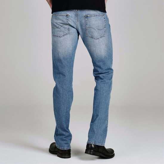Jack And Jones Стандартни Мъжки Дънки Jean Intelligence Clark Regular Mens Jeans Light Wash Мъжки дънки