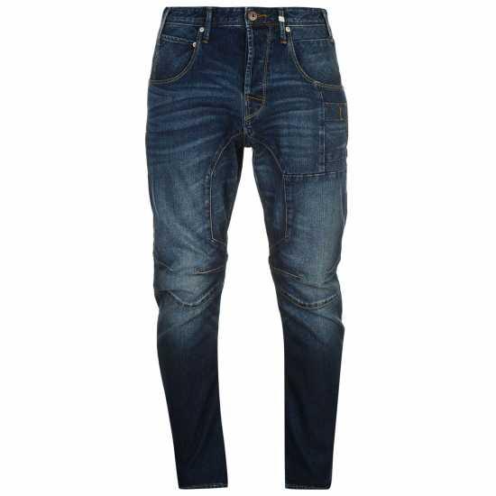 Jack And Jones Мъжки Дънки Jean Intelligence Anti Fit Stan Osaka Mens Jeans Dark Wash Мъжки дънки