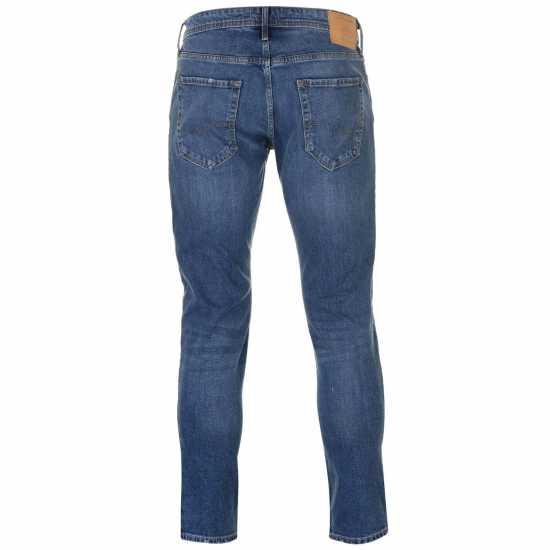 Jack And Jones Мъжки Дънки Слим Фит Jeans Intelligence Glenn Slim Fit Mens Jeans Mid Wash Ripped Мъжки дънки