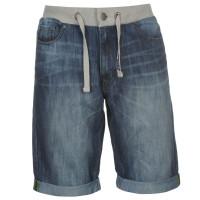 No Fear Дънкови Къси Панталони Denim Shorts Mens Mid Wash Мъжки дънки
