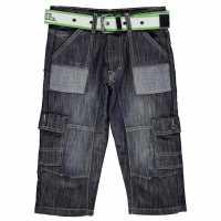 No Fear Момчешки Къси Гащи Belted Cargo Shorts Junior Boys Dark Wash Детски къси панталони