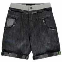 No Fear Момчешки Къси Гащи Double Waisted Shorts Junior Boys Light Wash Детски къси панталони