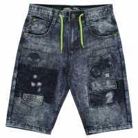 No Fear Момчешки Къси Гащи Patch Shorts Junior Boys Mid Wash Детски къси панталони