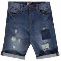 Soulcal Момчешки Къси Гащи Patch Shorts Junior Boys Mid Blue Детски къси панталони