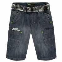 No Fear Момчешки Къси Гащи Belt Shorts Junior Boys Mid Wash Детски къси панталони