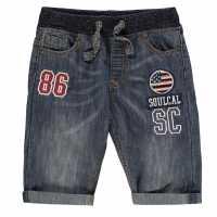 Soulcal Момчешки Къси Гащи Badge Shorts Junior Boys Mid Wash Детски къси панталони