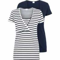 Mamalicious 2 Pack - Ladies Nursing Short Sleeve Jersey Top  Дамски ризи и тениски