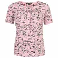 M Collection Printed Top Ladies Pink Дамски поли и рокли