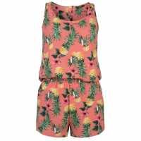Only Nova Playsuit Leafy Print Дамски къси панталони