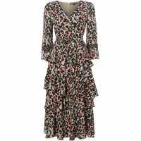 Biba Leopard Kimono Dress Multi-Coloured Дамски поли и рокли