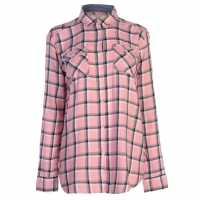 Soulcal Карирана Дамска Риза Ls Check Shirt Ladies Pink Check Дамски ризи и тениски