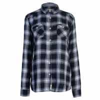 Soulcal Карирана Дамска Риза Ls Check Shirt Ladies Navy Check Дамски ризи и тениски