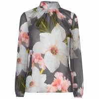Ted Baker Tily Chatsworth Blouse Grey Дамски ризи и тениски