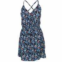 Soulcal Дамска Рокля Aop Dress Ladies Blk/Wht/Blu/Pk Дамски поли и рокли