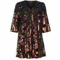 Golddigga Дамска Рокля Velvet Sequin Dress Ladies Multi Дамски поли и рокли