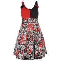 Character Дамска Рокля Insanity Dress Ladies Black/Red Дамски поли и рокли