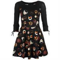 Long Sleeve Skate Dress Ladies Halloween Дамски поли и рокли