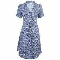Jdy Short Sleeve Tea Dress Blue Ditsy Дамски поли и рокли
