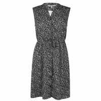 Golddigga Дамска Рокля Soulcal Print Dress Ladies Black Дамски поли и рокли