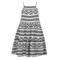 Only Lucy Strappy Mini Dress Blk/ White Дамски поли и рокли