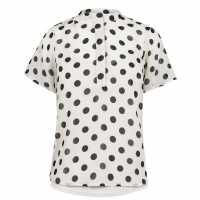 Vero Moda Ibbi Short Sleeve Top Black Dots Дамски ризи и тениски