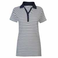 Miso Classic Ladies Polo White/Navy Дамски тениски с яка