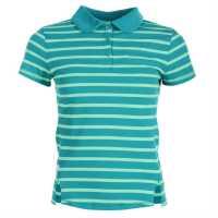 La Gear Yarn Dye Polo Womens Teal Дамски тениски с яка