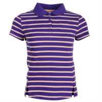 La Gear Yarn Dye Polo Womens Purple Дамски тениски с яка