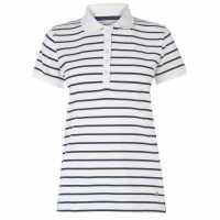 Rock And Rags Дамско Блуза С Яка Polo Shirt Ladies Navy/White Дамски тениски с яка