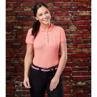 Dublin Ara Short Sleeve Polo Powder Pink Дамски тениски с яка