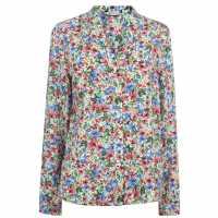 Only Floral Blouse Cloud Dancer Дамски ризи и тениски