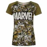 Character Дамска Блуза Къси Ръкави Short Sleeve T Shirt Ladies Marvel Дамски тениски и фланелки
