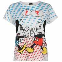 Character Дамска Блуза Къси Ръкави Short Sleeve T Shirt Ladies Minnie Mouse Дамски тениски и фланелки