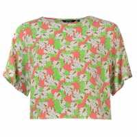 Golddigga Top Ladies Neon Floral Дамски тениски и фланелки