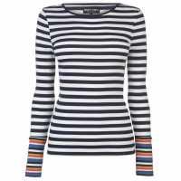 Only Дамска Тениска Bella T Shirt Ladies Blk/Multi Strpe Дамски тениски и фланелки