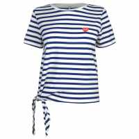 Only Тениска Brave Knot T Shirt Soda/Wht Дамски тениски и фланелки