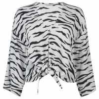 Only Tie Blouse Zebra Print Дамски ризи и тениски