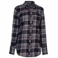 Firetrap Blackaseal Open Back Shirt Navy/Burgundy Дамски ризи и тениски