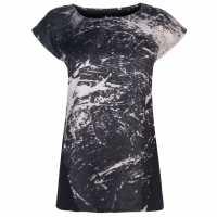 Firetrap Дамска Тениска Hera T Shirt Ladies Black Marble Дамски тениски и фланелки